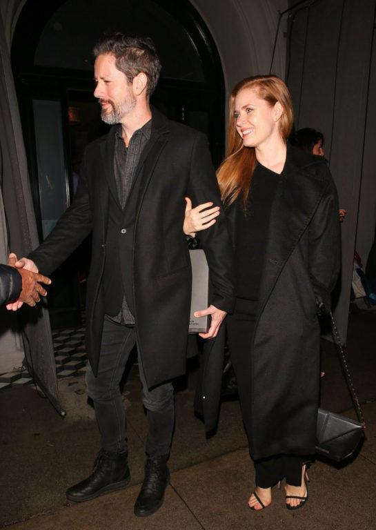 Amy Adams and husband Darren le Gallo leaving Craig's