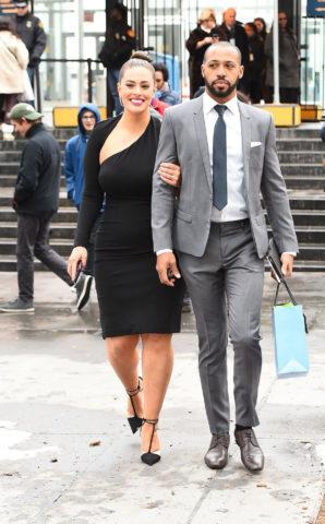 Ashley Graham and her husband Justin Ervin in New York