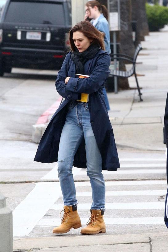Elizabeth Olsen in Los Angeles