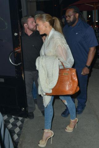 Jennifer Lopez at Craig's Restaurant