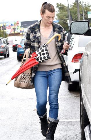 Milla Jovovich in Los Angeles