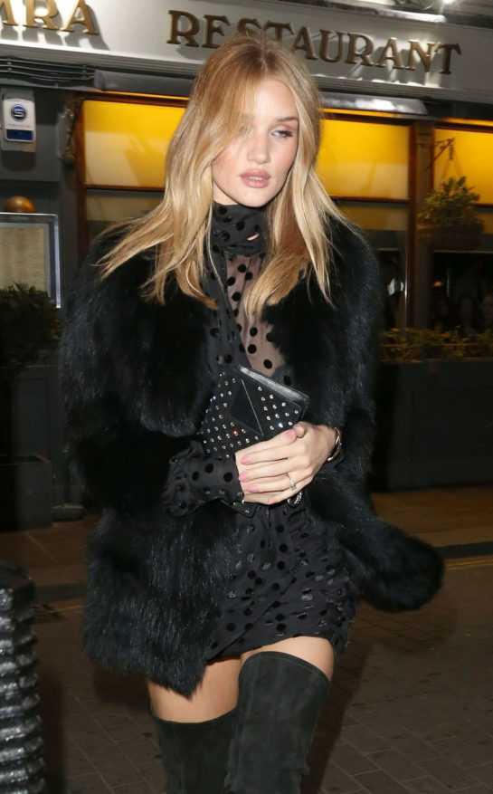 Rosie Huntington-Whiteley at Loulous Private Members Club, London