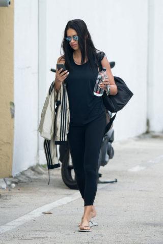 Adriana Lima Arrives - Gym in Miami Beach