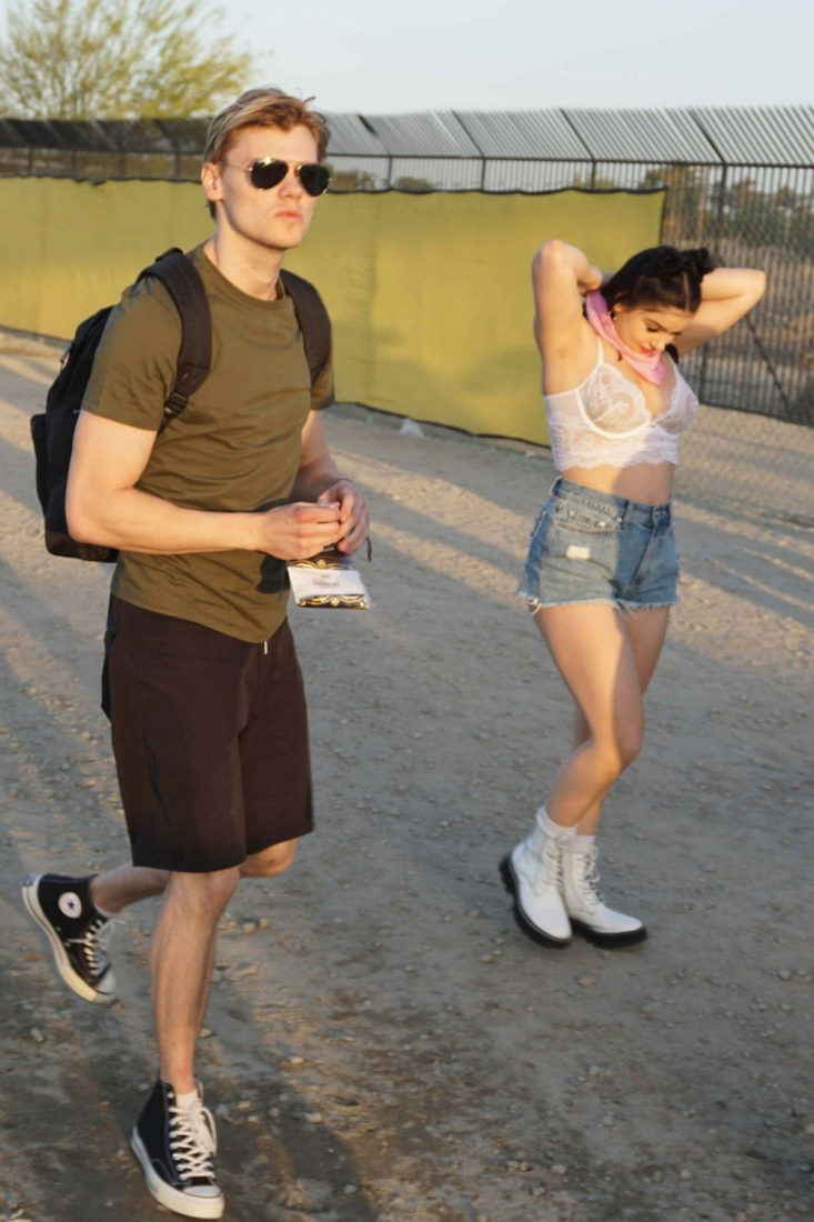 Ariel Winter and Levi Meaden at Coachella Valley Music and Arts Festival