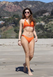 Blanca Blanco in Bikini at a Beach in Malibu