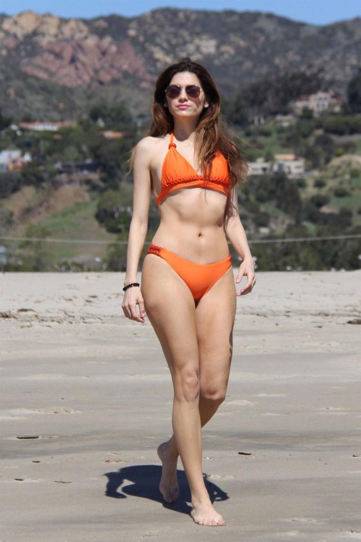 Blanca Blanco in Bikini at a Beach in Malibu