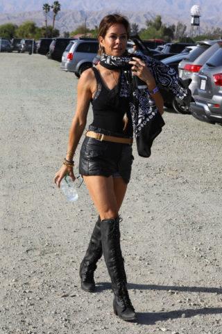 Brooke Burke at Coachella Valley Music and Arts Festival