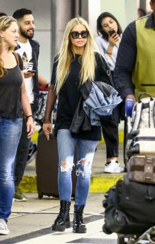 Carmen Electra at Airport in Miami