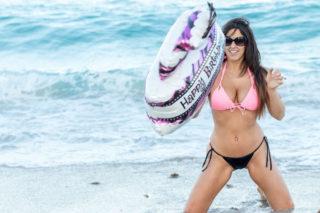 Claudia Romani in Bikini - Celebrating Her Birthday on South Beach