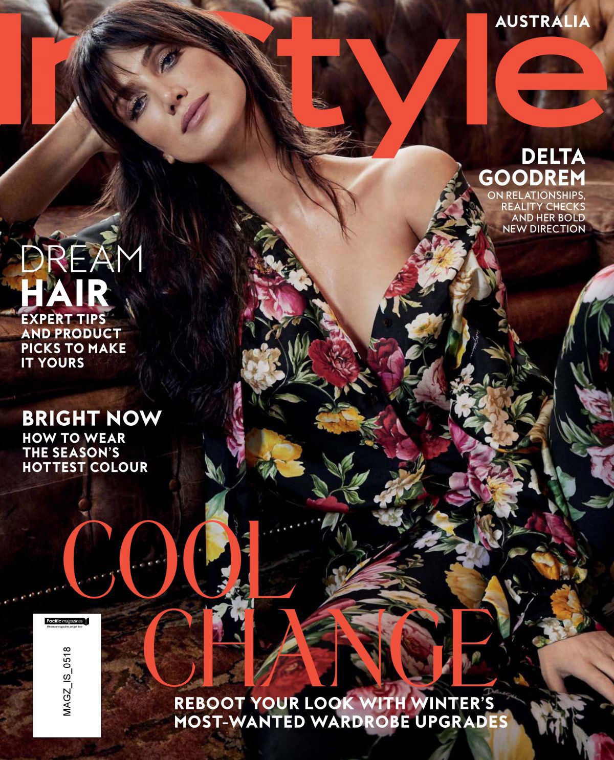 magazine covers delta goodrem instyle magazine australia may 2018 justfabzz. Black Bedroom Furniture Sets. Home Design Ideas