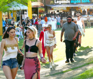 Gigi Hadid – Leaving McDonald's at Coachella