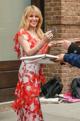 Kylie Minogue Leaves the Greenwich Hotel in New York