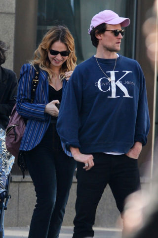 Lily James and Matt Smith out in New York