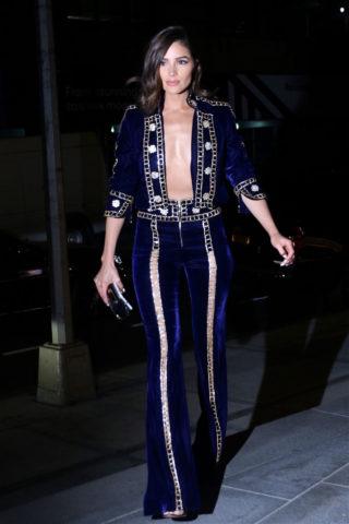 Olivia Culpo Arrives at Gigi's Birthday Party in New York