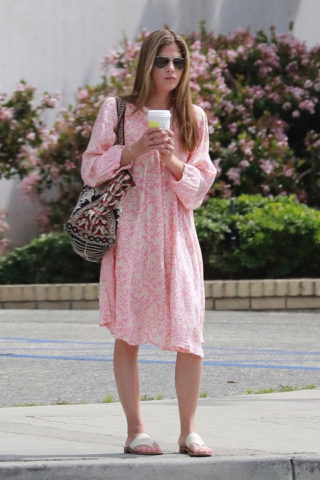 Selma Blair in Pink Dress – Studio City