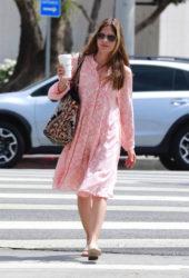 Selma Blair in Pink Dress – Studio City