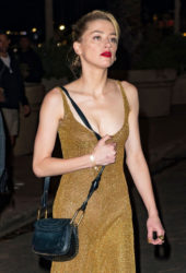 Amber Heard Night Out in Cannes