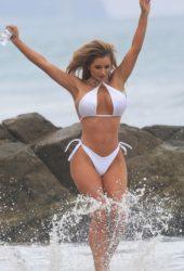 Amy Lee Summers in Bikini on the Beach in Malibu