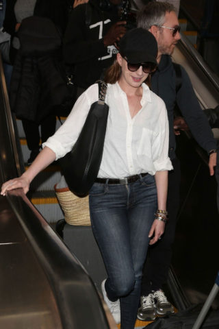 Anne Hathaway at Los Angeles International Airport