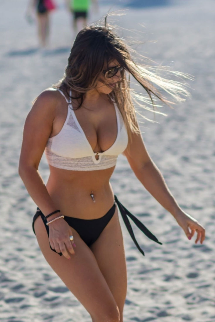 Claudia Romani in South Beach, MiamiClaudia Romani in South Beach, Miami