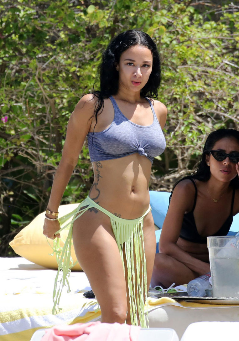 Draya Michele in Swimsuit in Miami