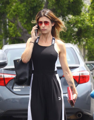 Elisabetta Canalis Shopping at Fred Segal in West Hollywood