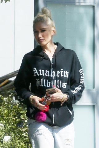 Gwen Stefani Leaves Her Home in Encino