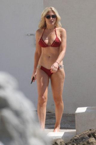 Hofit Golan in Red Bikini Eden Roc Hotel in Antibes
