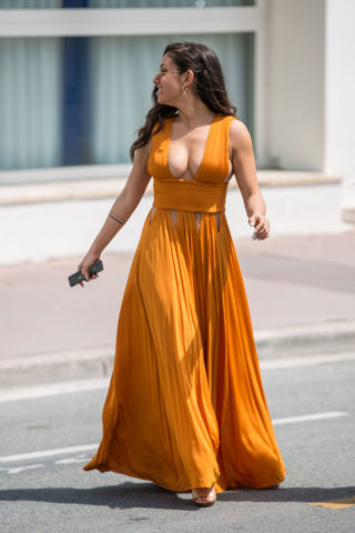 Inanna Sarkis Out at Croisette in Cannes