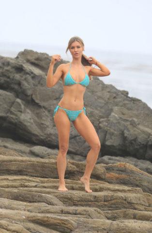 Joanna Krupa - Bikini Photoshoot on Mother's Day in Malibu