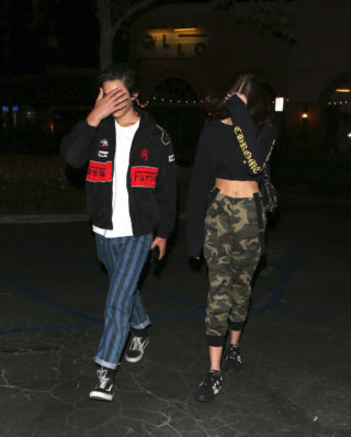 Kaia Gerber and her boyfriend Travis Jackson Night Out in Malibu