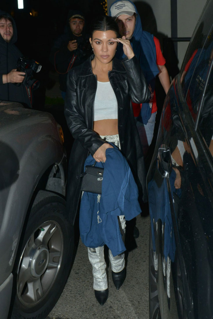 Kendall Jenner and Kourtney Kardashian at the Troubador in West Hollywood