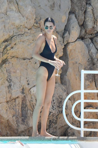 Kendall Jenner enjoys the Swimming Pool of the Eden Roc Hotel in Antibes