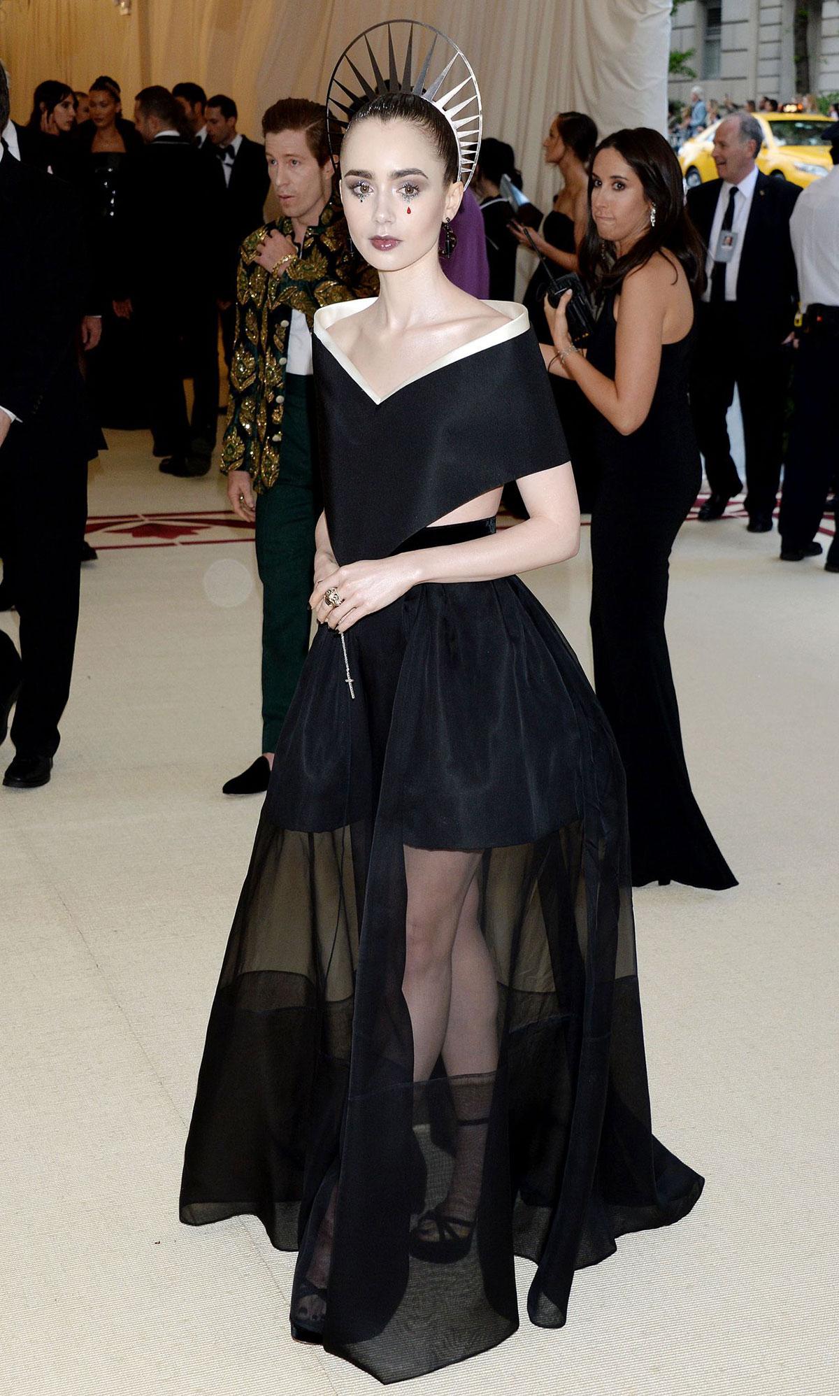 Celebrity Fashion U2013 Lily Collins At MET Gala 2018 - JustFabzz