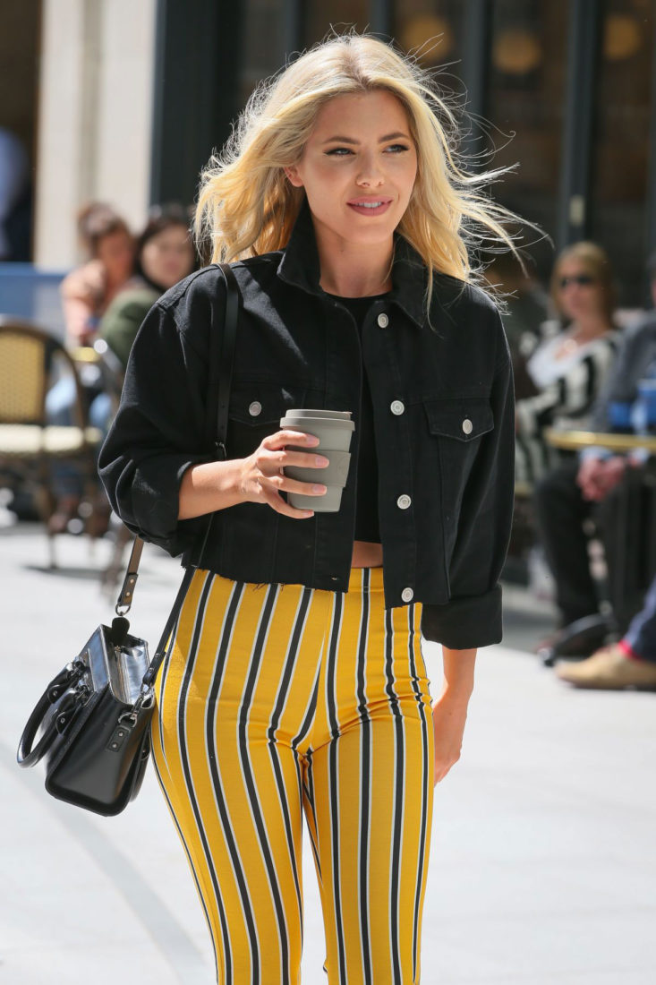 Mollie King Arrives at BBC Radio in London
