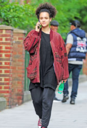 Nathalie Emmanuel Out in Notting Hill