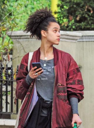 Nathalie Emmanuel Out in Notting Hill