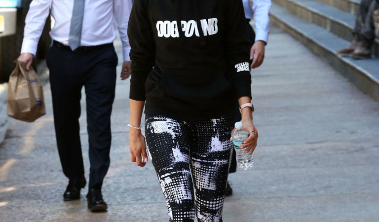 Celebrity Workout – Nina Dobrev Leaves an Intense Workout in NYC