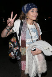 "Paris Jackson Arrives at ""On the Rox"" in West Hollywood"