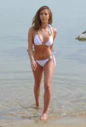 Pascal Craymer in Bikini at the Beach in Tenerife