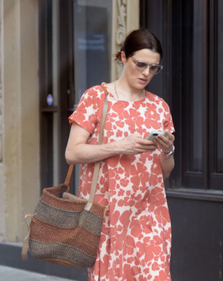 Pregnant Rachel Weisz Out in New York
