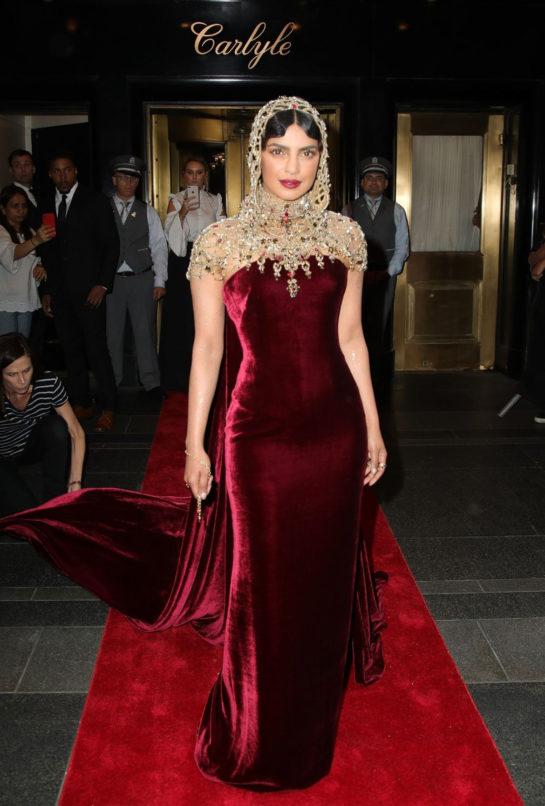 Priyanka Chopra Leaves The Carlyle Hotel to attend Met Gala 2018 in New York