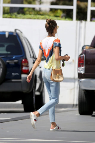 Alessandra Ambrosio At the Sugar Paper store in Brentwood