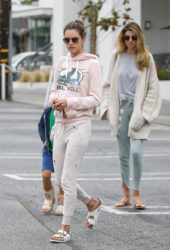 Alessandra Ambrosio and Aline Ambrosio – Out in Brentwood
