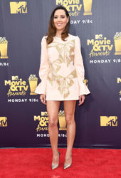 Aubrey Plaza at 2018 MTV Movie and TV Awards in Santa Monica