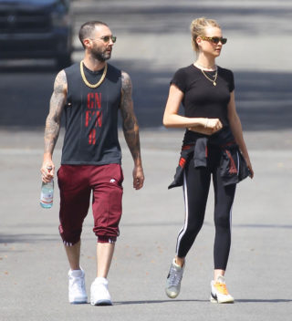 Behati Prinsloo and Adam Levine Leaves Pilates Class in Studio City
