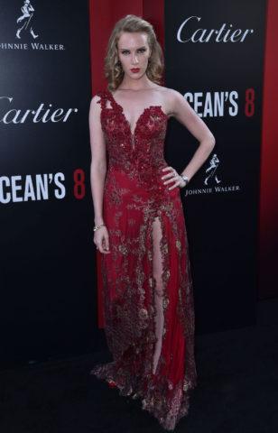 Charlotte Kirk at Ocean's 8 Premiere in New York