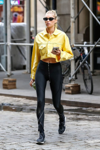 Elsa Hosk in Spandex Out in New York City