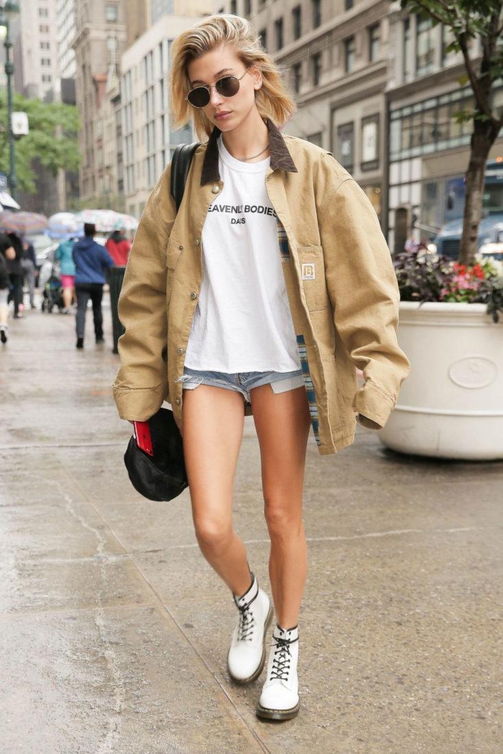 Hailey Baldwin in New York City