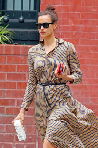 Irina Shayk Out and About in New York